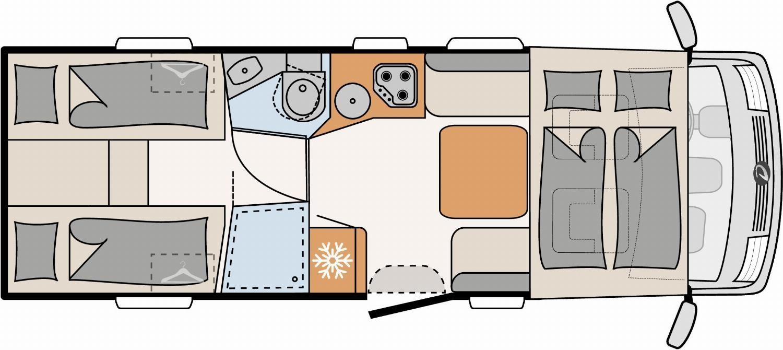 Wohnmobil leihen - Vollintegriert Luxus
